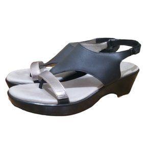 Jambu Black & Gray Leslie  Heeled Sandals